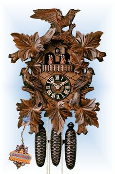 Hones Seven Leaf cuckoo clock 19'' - Bavarian Clockworks