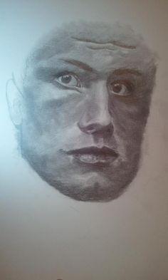 Josh Hutcherson portrait unfinished. :) #joshhutcherson #guy #male #hot #art #drawing #sketch #pencil #charcoal #thehungergames #movie #film #boy