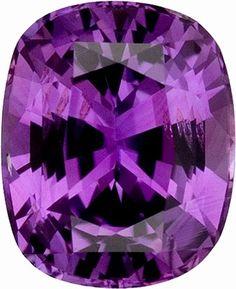 Purple cushion cut sapphire