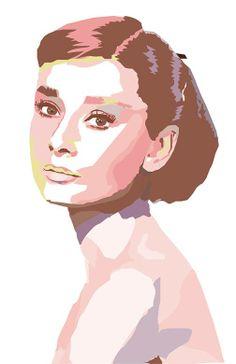 Student Work: Geometric Portrait created in Adobe Illustrator #hindscc