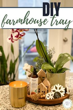 This DIY farmhouse tray uses an unfinished wooden round, stain and hardware to create a beautiful single tray for all of your home decor. #diyhomedecor #diyfarmhouse #woodtraydecor Diy Projects For Kids, Wooden Projects, Diy Home Decor Projects, Crafts For Kids, Wooden Toy Wheels, Activities To Do With Toddlers, Beginner Woodworking Projects, Wood Working For Beginners