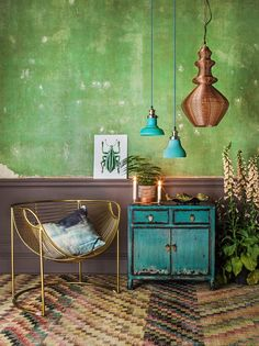 Green House Inspiraton, Graham & Green - love the way this unit is painted