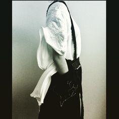 Draping, denim manipulation.apron skirt. Badwolf collection. Fashion design student