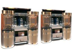 www.HigherFi.com  $170,000 Audio Power Labs 833 TNT uses 833C vacuum tubes in a push-pull configuration delivering 200 watts RMS per channel and a total amp weight of 160lbs.