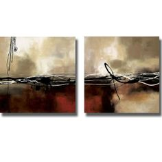 Symphony in Red and Khaki by Maitland 2-pc Premium Stretched Canvas Set (Ready to Hang) by Artistic Home Gallery. $174.99. Ships in 3 to 5 business days. Hand Applied Multiple UV protective Coatings. Dimensions: 24 in H x 24 in W x .75 in D (Each Piece). 2-pc Matched Set, Ready to Hang or Frame as desired. Artist Grade Canvas Stretched on Solid Wood. Laurie Maitland's contemporary canvas art set will enhance any home or office.. Save 33% Off!