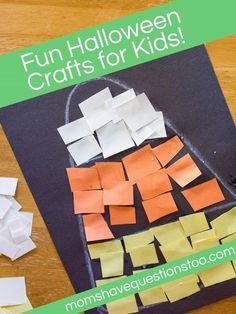 preschool halloween crafts | Halloween Crafts for Kids!