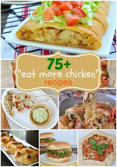 75+ delicious Chicken dinner recipe ideas! From easy weeknight meals, to weekend comfort food, you'll find something to inspire you! #chicken