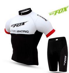 BATFOX Men Summer Cycling Jersey Short Sleeve Breathable Pad BTM Comfortable Cycling Climbing Bike Jersey Shirt