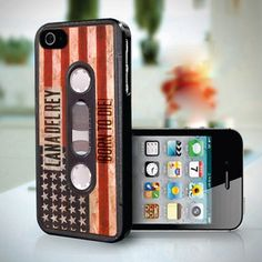 Vintage Cassette Tape Lana Del Rey American design for iPhone 5 case