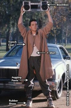 Dress up as Lloyd Dobler and Diane Court from Say Anything