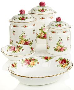 Royal Albert Old Country Roses Serveware Collection - Dinnerware - Dining & Entertaining - Macy's