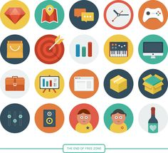 Ballicons is a colorful set of flat-scalable icons