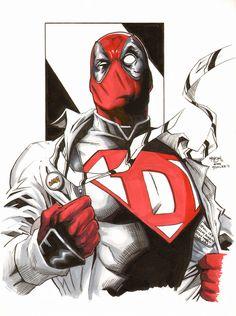 #Deadpool #Fan #Art. (Deadpool) By: Eric Henson & Jim Lee. (THE * 5 * STÅR * ÅWARD * OF: * AW YEAH, IT'S MAJOR ÅWESOMENESS!!!™)[THANK U 4 PINNING!!!<·><]<©>ÅÅÅ+(OB4E)