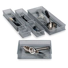 Container store drawer organizers