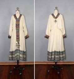 1970s dress / gauze dress / ethiopian by PrettyLittleWorldVtg, $216.00