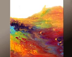 Pinturas de arte contemporáneo de arte lienzo 18 x 24 por wostudios