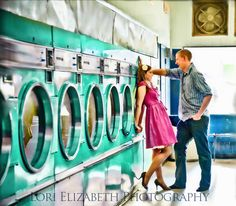I find this kinda romantic, how cool would a laundry mat photo shoot be?!