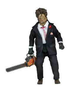 "Texas Chainsaw Massacre Part 2 8"" Clothed Figure: Leatherface"