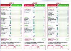Idées menus Propoint (1ère semaine de démarrage express)