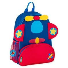 db85f69ad9 Stephen Joseph Airplane Sidekick Backpack In Red Multi. Colorful BackpacksChildren s  BackpacksPe BagsToddler ...