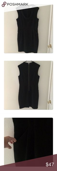 Like New LOFT Black Shift Dress ❤️ Only worn twice and recently dry cleaned with no signs of wear! .::. Adorable style with draped neck and pockets .::. Questions and offers welcome .::. Bundle & save ✨ LOFT Dresses