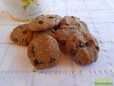 Receta de cookies veganas con chips de chocolate negro