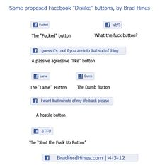 Funny #Facebook Dislike buttons by Brad Hines
