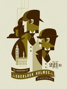 Sherlock Holmes poster.  tom whalen : strongstuff illustration + design