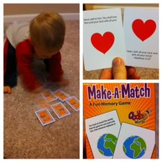 Matching card game for kids that teaches Bible verses - perfect stocking stuffer for toddlers & up!