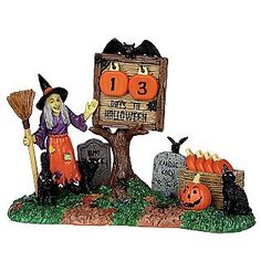 Lemax Spooky Town Collection -Countdown to Halloween 7-Pc Set