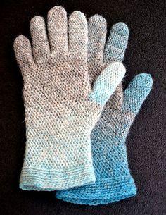 Slip stitch gloves/Smygmaskvirkade fingervantar pattern by Ulrika Andersson