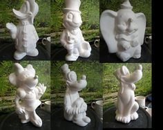 Disney Characters Your choice of one Vintage Certified Disney Productions Ceramic Bisque on Etsy, $13.75