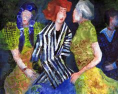 """'Pattern of Gossip"""" revised acrylic painting by Sharon Giles Acrylic Paintings, Gossip, Dallas, My Arts, Drawings, Favorite Things, Design Ideas, Fashion Design, Pattern"""
