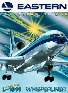 Eastern Airlines - my dad flew the Eastern for the last few years of his career before retirement. What a beautiful aircraft. Airline Logo, Airline Travel, Air Travel, Travel Deals, Travel Hacks, Travel Essentials, Budget Travel, Travel Tips, Jean Mermoz