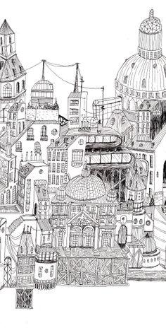Miles Km - Andrés Lozano Illustration