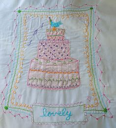 Free motion stitching-pattern from Inspired Ideas Summer Issue (Amy Powers).