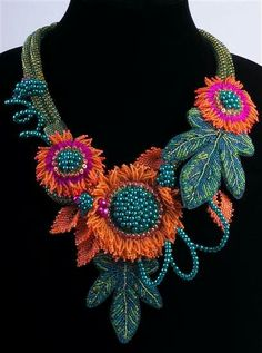 Her Sweet Perfume - beadwoven neckpiece by Alex Roeder
