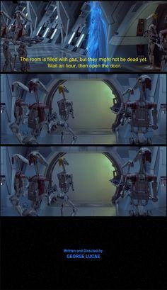 Memes of the Star Wars Prequels. Star Wars Puns, Star Wars Facts, Star Wars Humor, Funny Relatable Memes, Funny Jokes, Hilarious, Prequel Memes, War Comics, Pokemon
