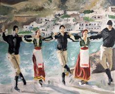 Greek Dancers Painting