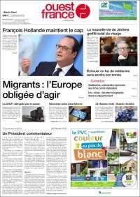 Une de Ouest France 20/04/2015