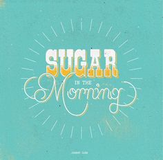 Sugar Type / Typography experiments.  Johnny Cash inspired type. by Radio Illustration Collective.