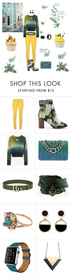"""BRIGHT SUMMER STYLE"" by rebeccadavisblogger on Polyvore featuring M Missoni, Sole Society, Miu Miu, Gucci, Yves Saint Laurent, Bibi and Warehouse"
