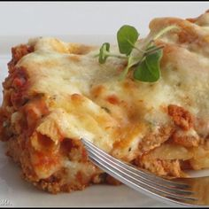 Three cheese Baked Ziti with Turkey - 8 servings - 289 calories per serving!  6 Points plus