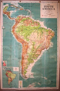 Vintage School Map – We collect similar ones – Only/Once – www.onlyonceshop.com