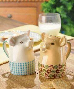 Look at this Grasslands Road Mini Pig Pitcher Set on today! Pig Kitchen, Kitchen Stuff, Piggly Wiggly, Biscuit, Cute Piggies, Flying Pig, This Little Piggy, Gadgets, Tea Pots