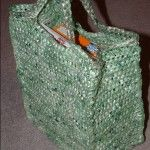 I bring you the green shopping bag. This is a true green crafting idea in every sense of the word. It is crocheted from recycled plastic grocery bags into plarn