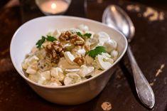 Waldorfinsalaatti Food Test, Couscous, Potato Salad, Food And Drink, Soup, Potatoes, Dinner, Ethnic Recipes, Desserts