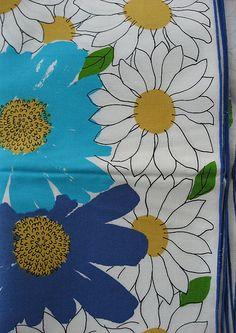 Vera Neumann vintage linen napkins - I have these in orange/yellow :)