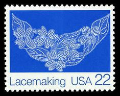 22c Lacemaking - Dogwood Blossoms single Lacemaking, Vintage Handkerchiefs, Silk Ribbon Embroidery, Art Series, Stamp Collecting, Postage Stamps, Linen Bedding, Folk Art, Arts And Crafts
