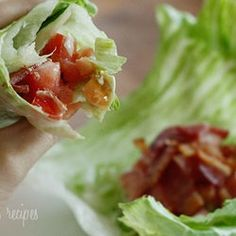 BLT Lettuce Wraps - Skinny Taste Recipes - Punchfork...HONESTLY THIS SITE HAS EVERY SKINNY TASTE RECIPE YOU'LL EVER NEED! ;)